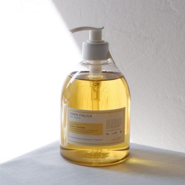 sapone fluido argan e avocado